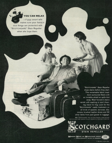 A 1961 ad for 3M's stain-repeller, Scotchgard, which contained PFASs.