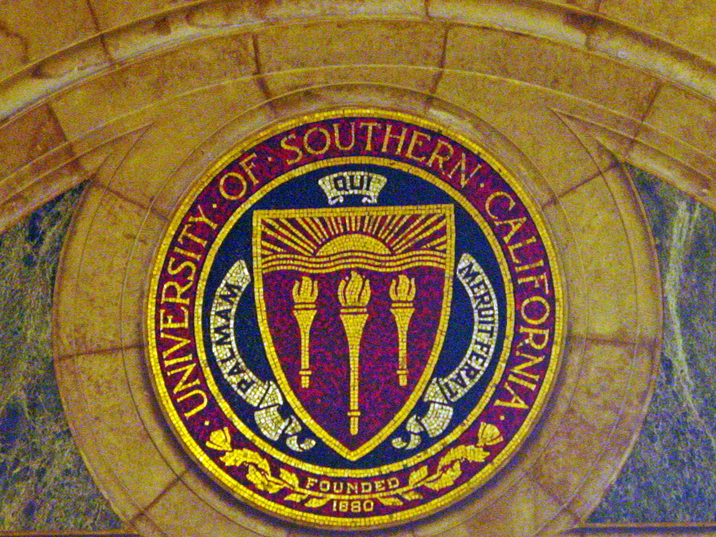 File photo: University of Southern California mosaic seal.