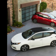 The 2018 Nissan Leaf is a battery electric vehicle that starts at $29,990 and can travel 150 miles per charge.