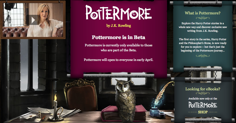The Pottermore website.