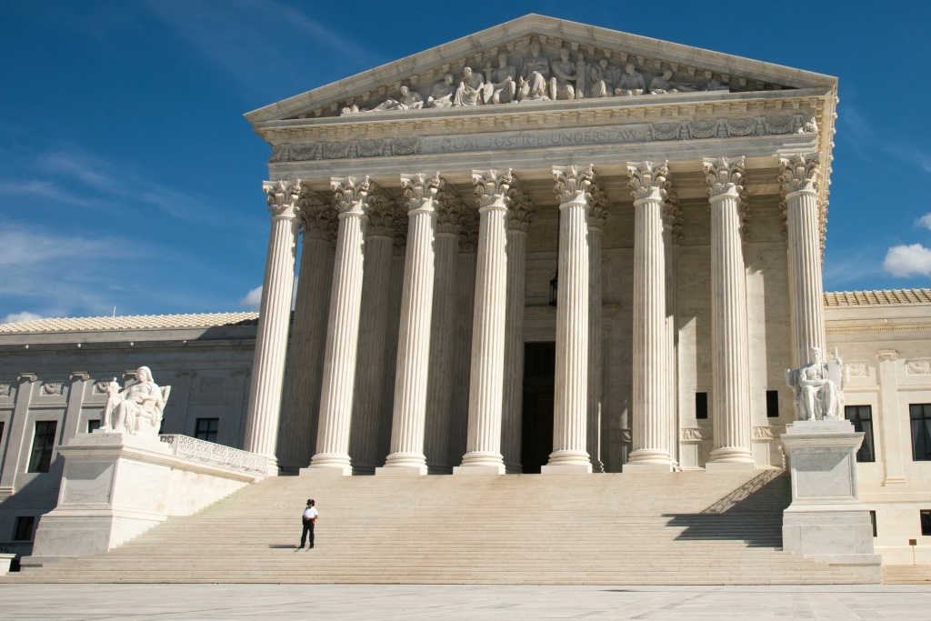 The U.S. Supreme Court in Washington DC.