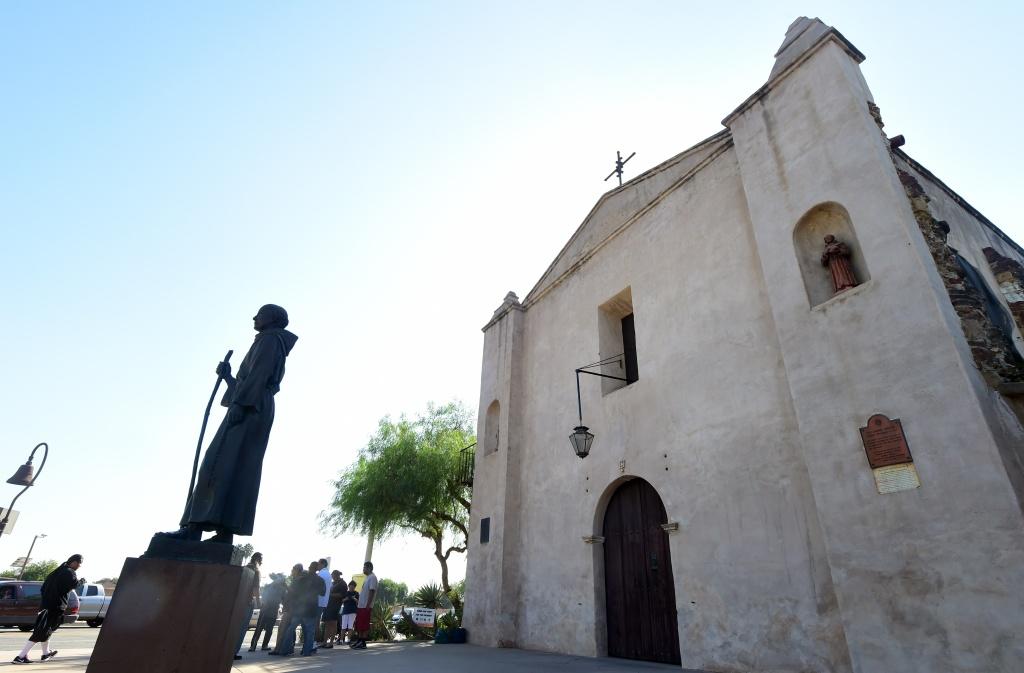 Photo of the San Gabriel Mission.