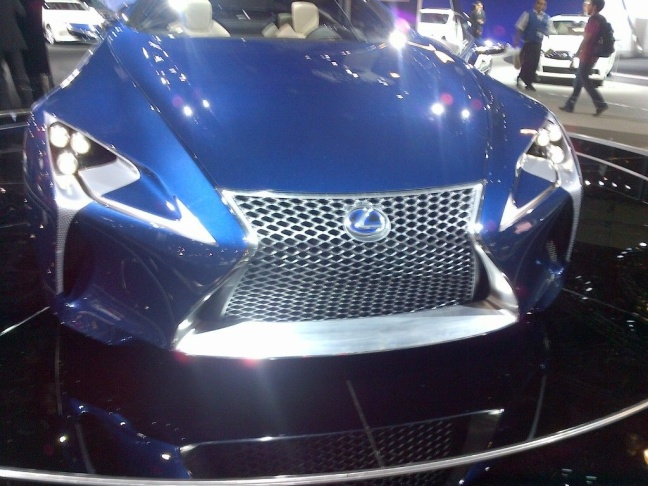 Lexus concept car front end
