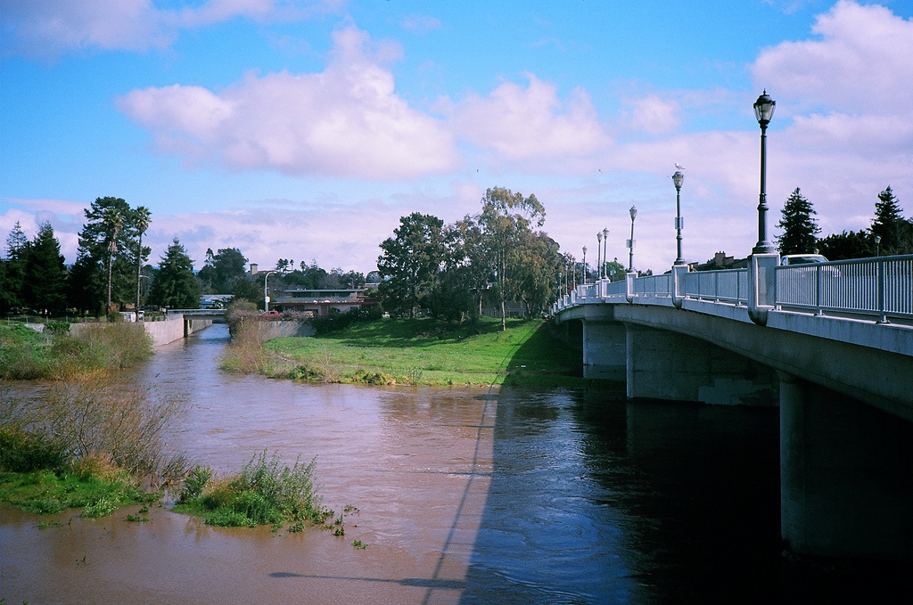 The San Lorenzo River, Santa Cruz's largest water source, is at historically low levels. Santa Cruz is imposing water rationing for residential customers in an effort to reduce consumption by 25 percent because of California's drought.