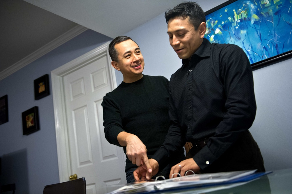 Edwin, a 46-year-old naturalized US citizen from El Salvador, and Rodrigo Martinez, 34, have been together for ten years and got married in Washington, DC, in 2011.