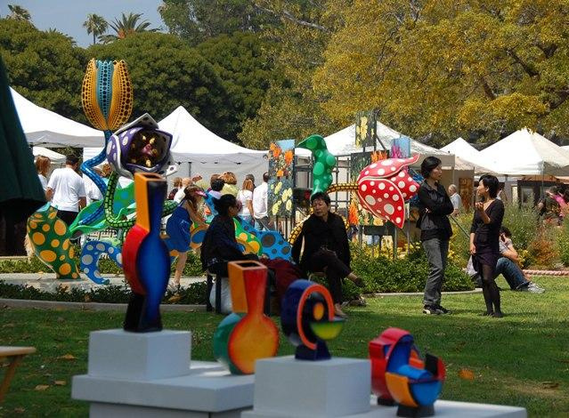 Locals hang at the Beverly Hills artSHOW.