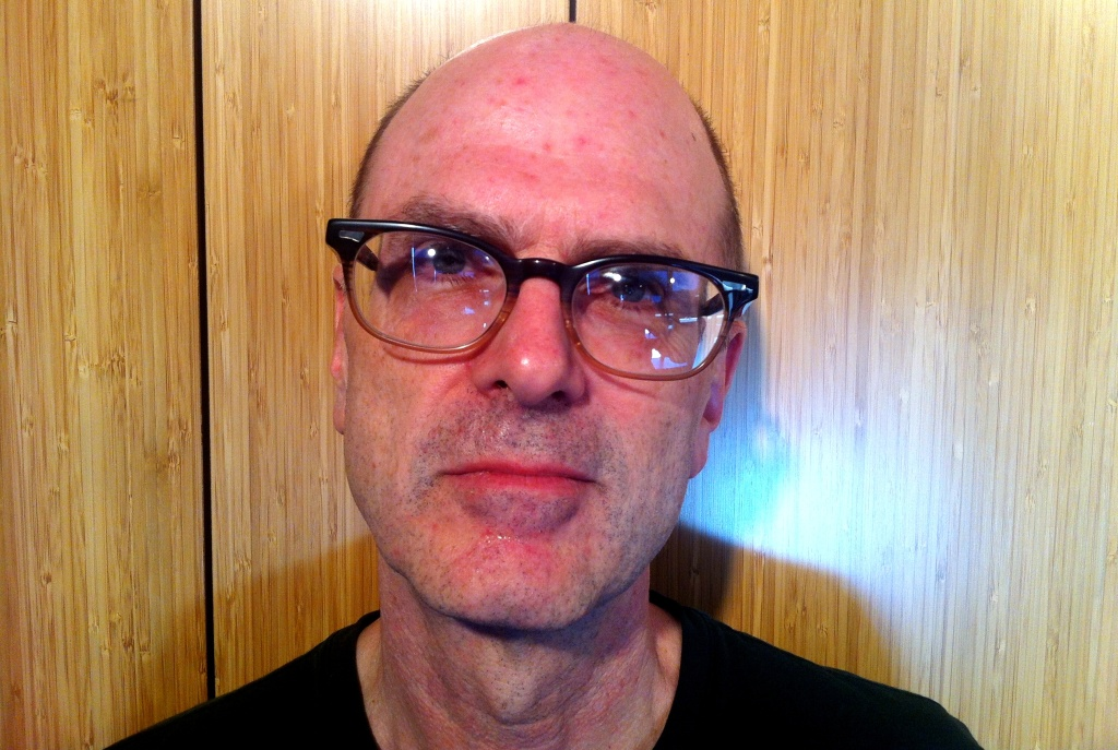 Graphic novelist and artist Charles Burns, at the Mohn Broadcast Center, 9/18/2014. He's just completed his trilogy with the new book Sugar Skull.