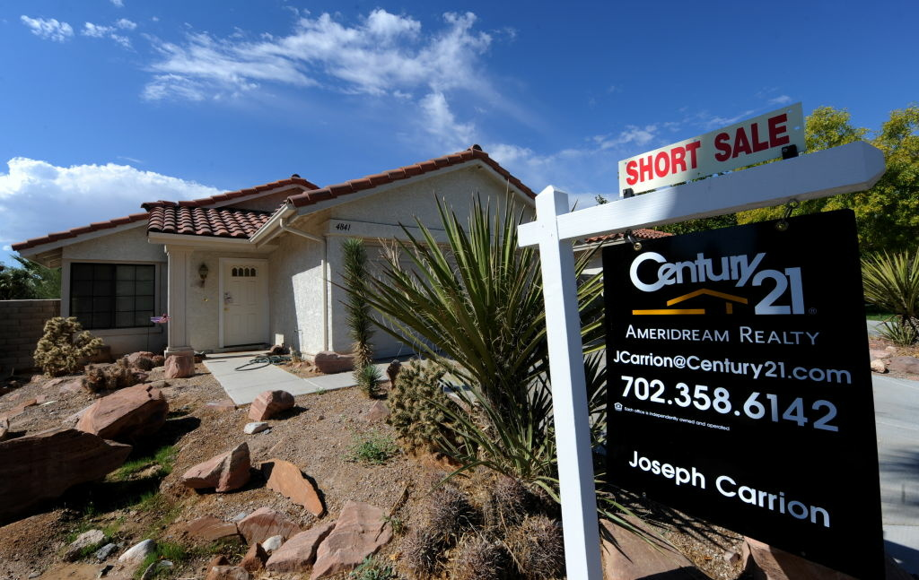 A short sale home in Las Vegas. An expected short sale boom in the U.S. hasn't materialized, according to the National Association of Realtors. But in California, short sales have been on the rise.
