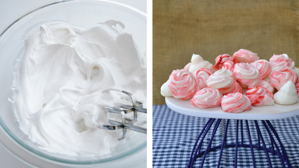 Aquafaba, commonly made from chickpea water, can be whipped into a stiff foam for an excellent vegan replacement for egg whites.