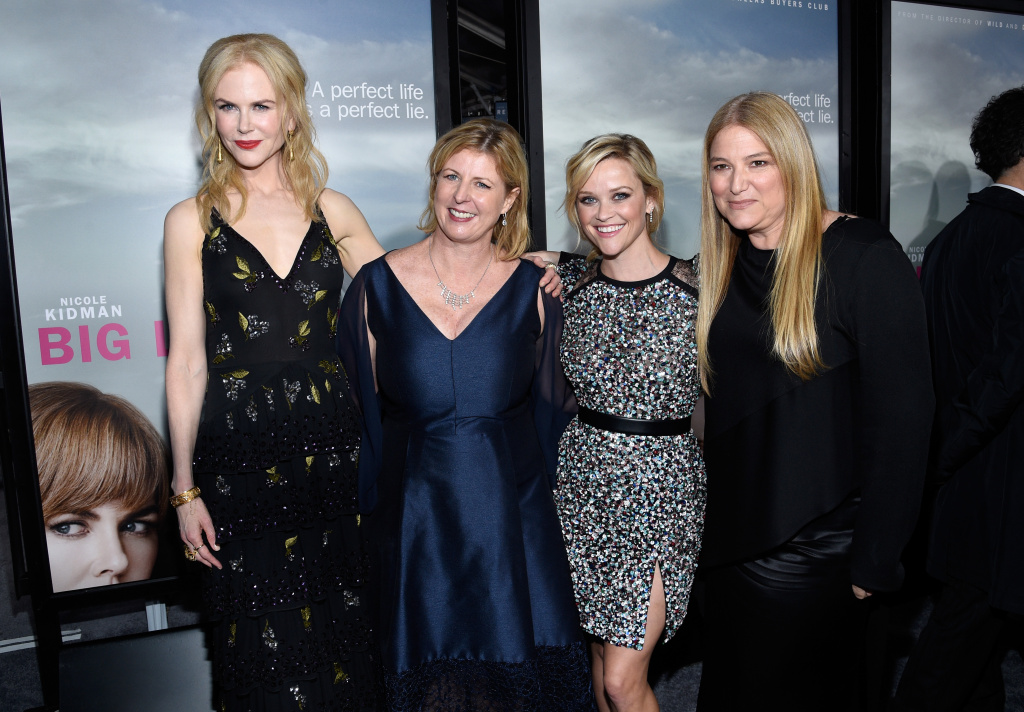 Actress  Nicole Kidman, author Liane Moriarty, actress Reese Witherspoon, and executive producer Bruna Papandrea attend the premiere of HBO's