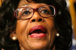 U.S. Rep. Maxine Waters (D-CA) speaks at a news conference in Washington, DC on February 12, 2009.  Waters has been charged with ethical violations.