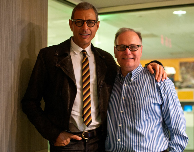 Actor Jeff Goldblum, known for films like Jurassic Park and Independence Day, visited the KPCC studios on Thursday.
