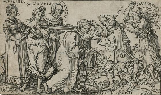 Hans Sebald Beham, Allegory of Monachism,1521