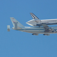 Endeavour over Long Beach