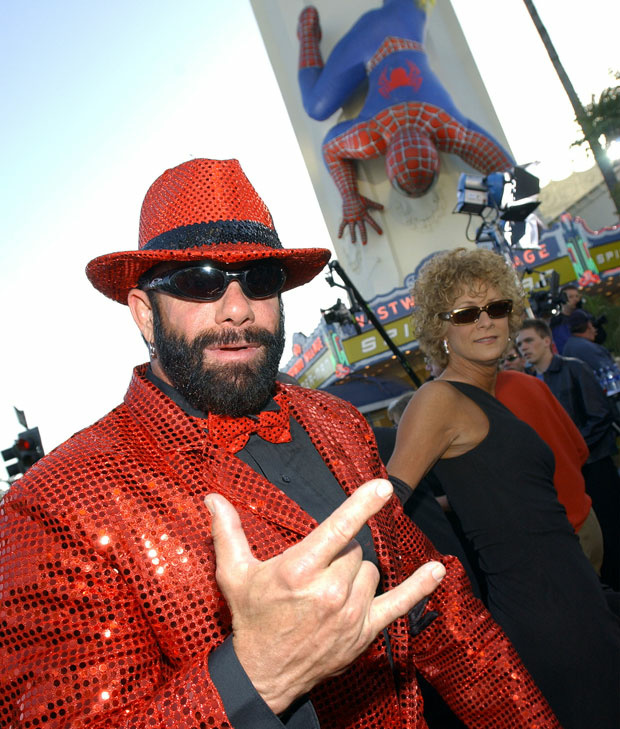 File photo: Pro wrestler Randy 'Macho Man' Savage arrives at the premiere of the film 'Spider-Man' April 29, 2002 in Los Angeles.