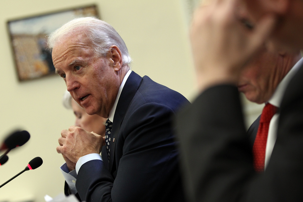 U.S. Vice President Joe Biden hosts a Cabinet meeting to discuss efforts to cut waste, fraud, and abuse.