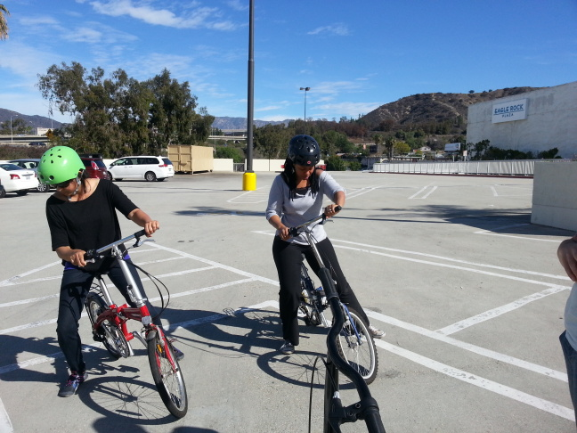 Adult bike riding class