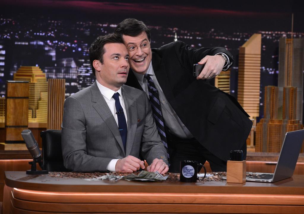 Stephen Colbert visits