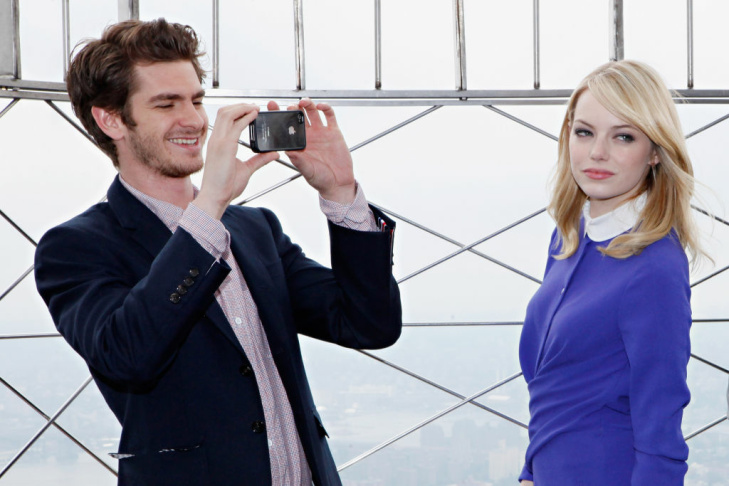 """The Amazing Spider-Man"" Cast Visit The Empire State Building"