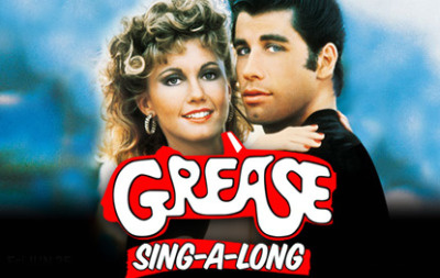 "Poster for the ""Grease"" sing-along at the Hollywood Bowl, June 25, 2010."