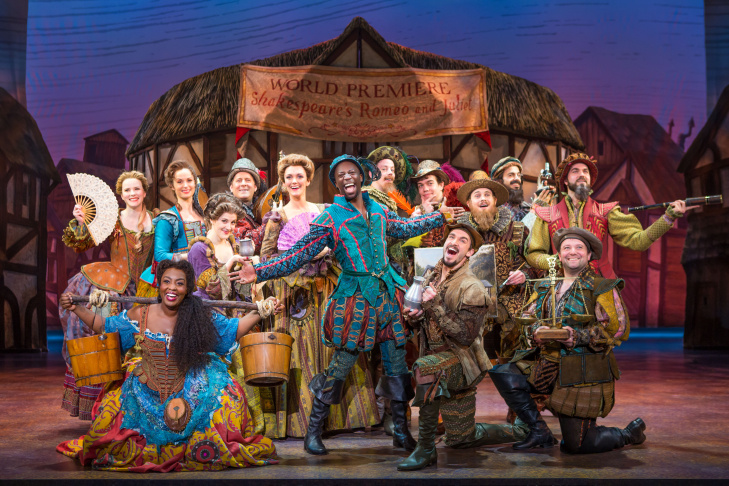 "The cast of ""Something Rotten!"" — at the Ahmanson Theatre through Dec. 31."