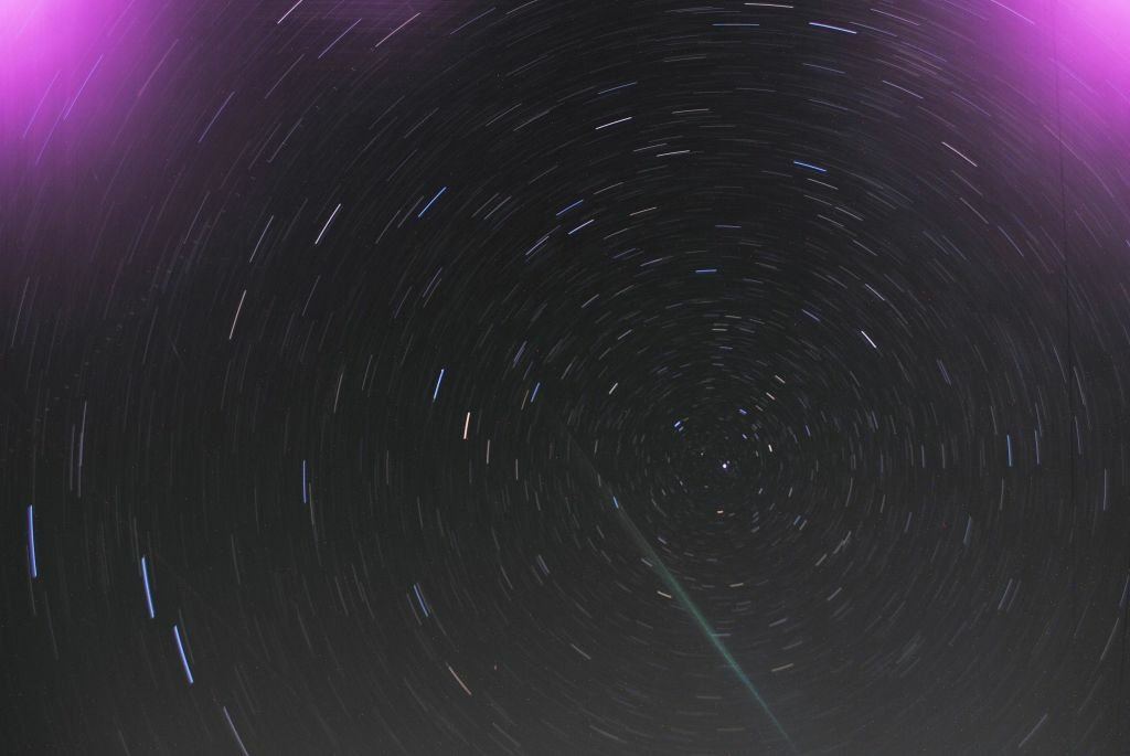 Nathan Trail took this photo of the Perseid meteor shower over Maryland on August 12th using KPCC's tips. Try your camera out on the showers and send them to us at pix@kpcc.org.