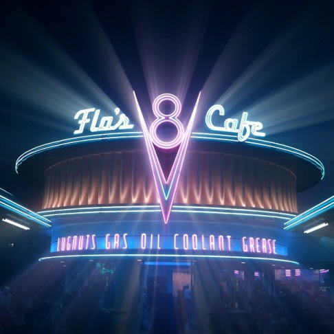 The winning image of Flo's Cafe at Disneyland for our Instagram Challenge with Instagram Lovers Anonymous