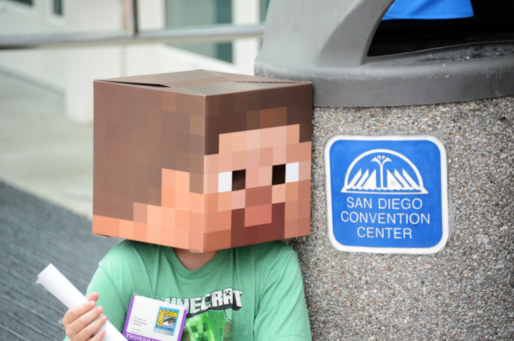 A fan's tribute to the popular game 'Minecraft.'