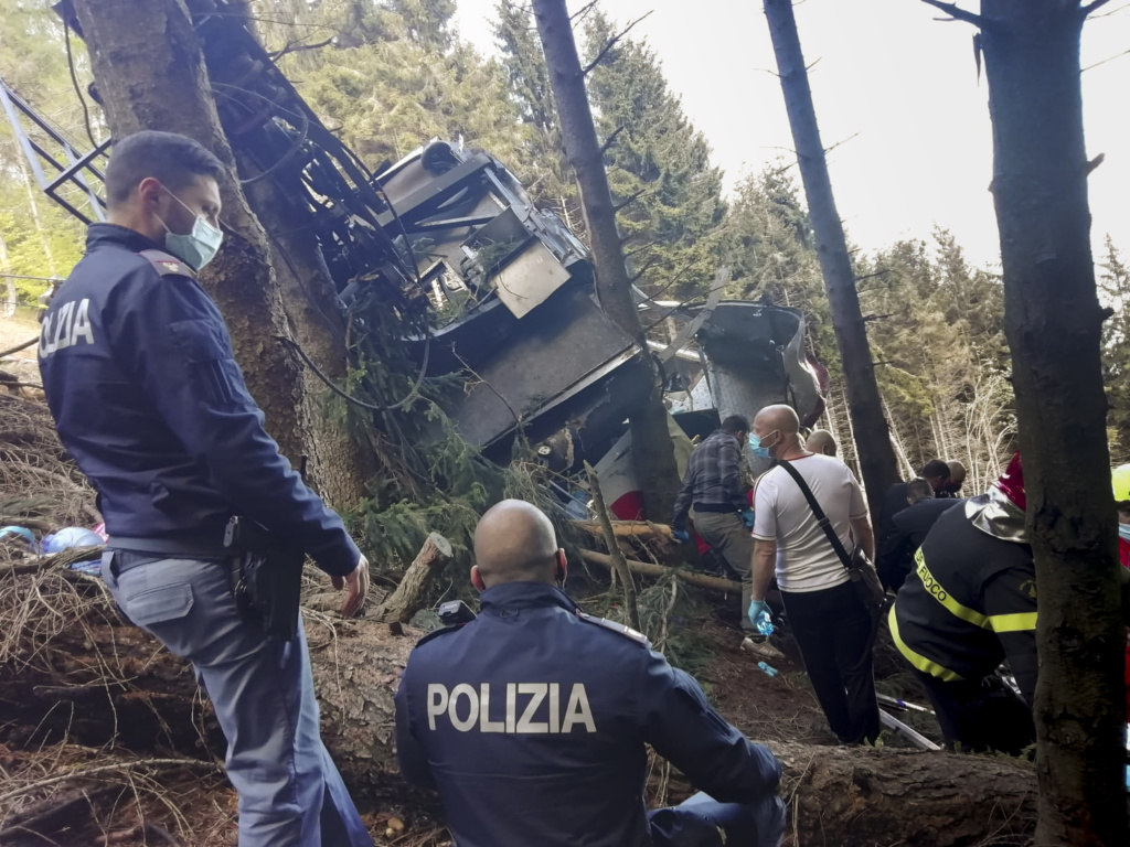 An aerial tramway car fell to the ground in Northern Italy Sunday, killing 14 and leaving a child in the hospital. The cable line appeared to have snapped, but the cause hasn't yet been determined.