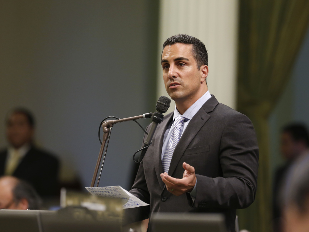 File: Assemblyman Mike Gatto, D-Los Angeles, urges lawmakers to approve a measure during an Assembly session at the Capitol.