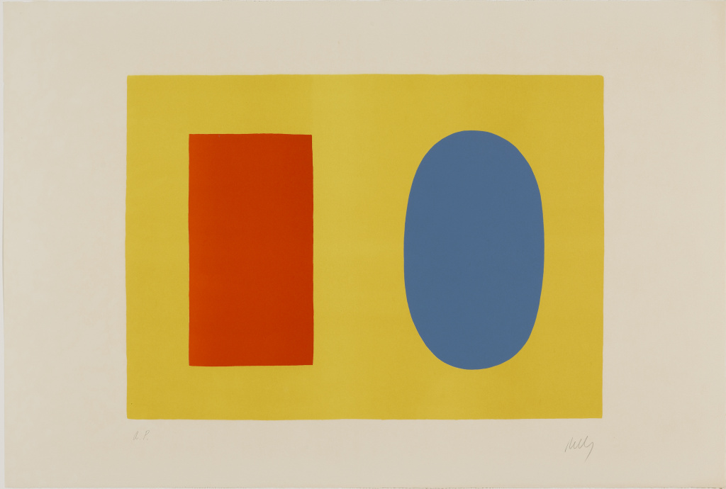 Orange  and  Blue  Over  Yellow,  1964 by Ellsworth  Kelly  (American,  1923-2015). ©Ellsworth  Kelly  Foundation