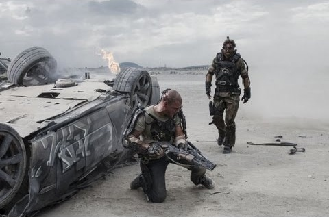 Matt Damon stars in the new film 'Elysium.' The movie earned the top spot at the box office this weekend, taking in over $30 million.