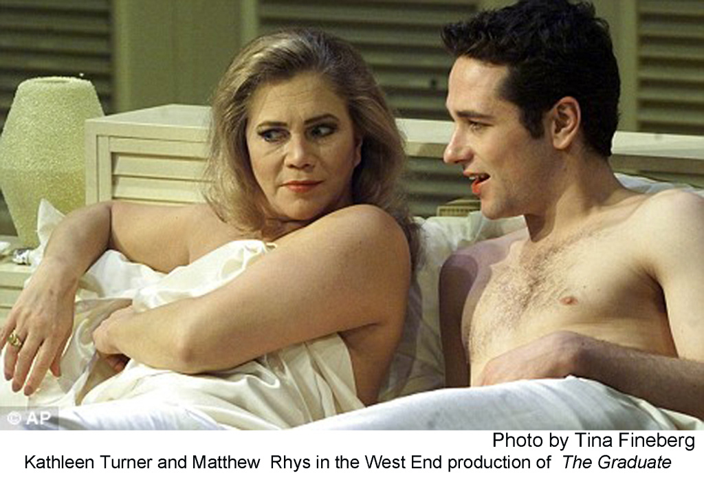 Kathleen Turner and Matthew Rhys in the West End production of