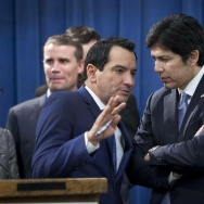 The California Legislature's top Democrats, Assembly Speaker Anthony Rendon and Senate President Pro Tem Kevin De León, opened the new session on Monday by taking aim at President-elect Donald Trump.