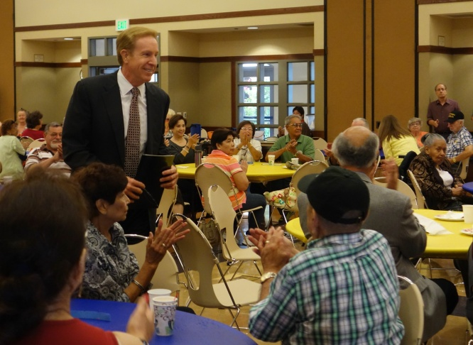Rep.Rep. Gary Miller at Rancho Cucamonga Senior Center