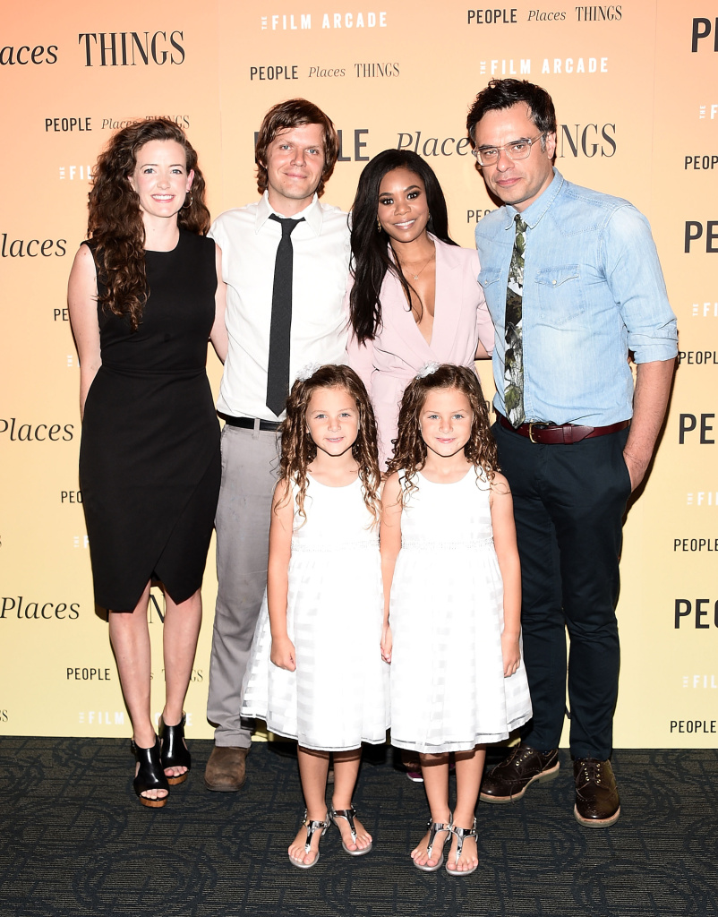 NEW YORK, NY - AUGUST 10: (L-R) Stephanie Allynne, Jim Strouse, Aundrea Gadsby, Regina Hall, Gia Gadsby, and Jemaine Clement attend the