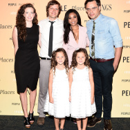 """NEW YORK, NY - AUGUST 10: (L-R) Stephanie Allynne, Jim Strouse, Aundrea Gadsby, Regina Hall, Gia Gadsby, and Jemaine Clement attend the """"People Places Things"""" New York premiere at Sunshine Landmark on August 10, 2015 in New York City.  (Photo by Andrew H. Walker/Getty Images)"""