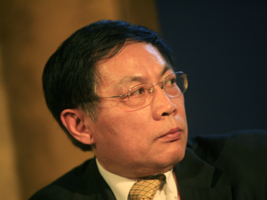 Ren Zhiqiang seen at a business conference in Beijing in 2008. Ren was sentenced to 18 years in prison Tuesday for corruption, following his public criticism of Chinese president Xi Jinping and the Chinese Communist Party.