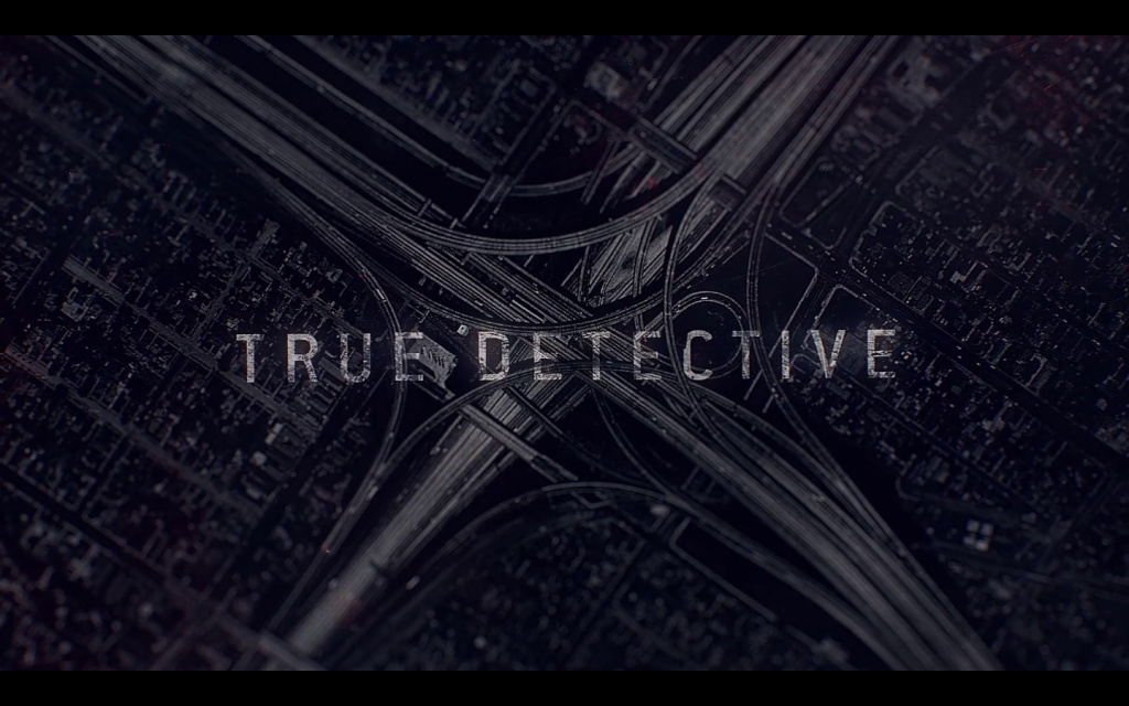 Title screen from the opening sequence to season two of 'True Detective'