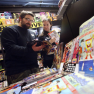 What began 16 years ago with just four publishers in a few cities has blossomed into an international event involving hundreds of stores in 46 countries with 40 publishers — big, small and self-run — and millions of comic books, all for free. (AP Photo/Michael Dwyer)