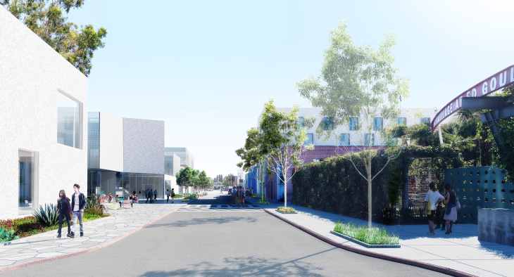 Rendering of the Anita May Rosenstein campus in Hollywood.