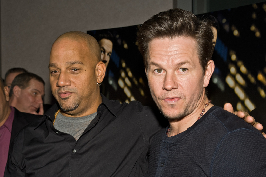 Director Allen Hughes and Mark Wahlberg attend the