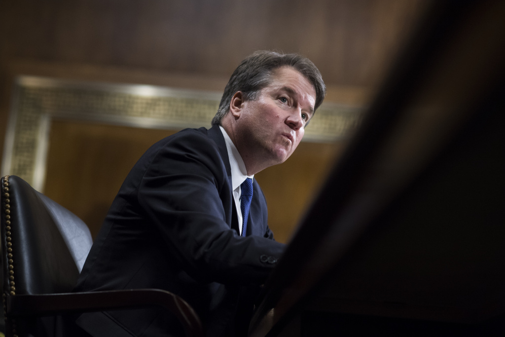 Judge Brett Kavanaugh testifies during the Senate Judiciary Committee hearing on his nomination be an associate justice of the Supreme Court of the United States, focusing on allegations of sexual assault by Kavanaugh against Christine Blasey Ford in the early 1980s