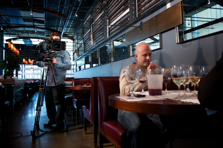 Director Jason Wise filming for Somm