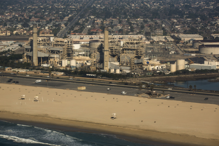 The desalination part of the Poseidon Water facility would be located here along Huntington Beach.
