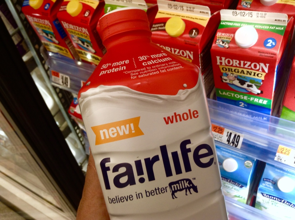Fairlife Milk, Whole, by Coca Cola, 1/2015
