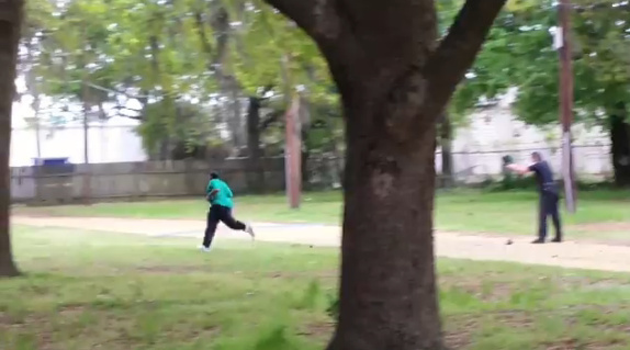 Charleston's The Post and Courier and the New York Times posted eyewitness cellphone video showing Officer Michael Slager, 33, firing at 50-year-old Walter Scott as he fled from the officer.