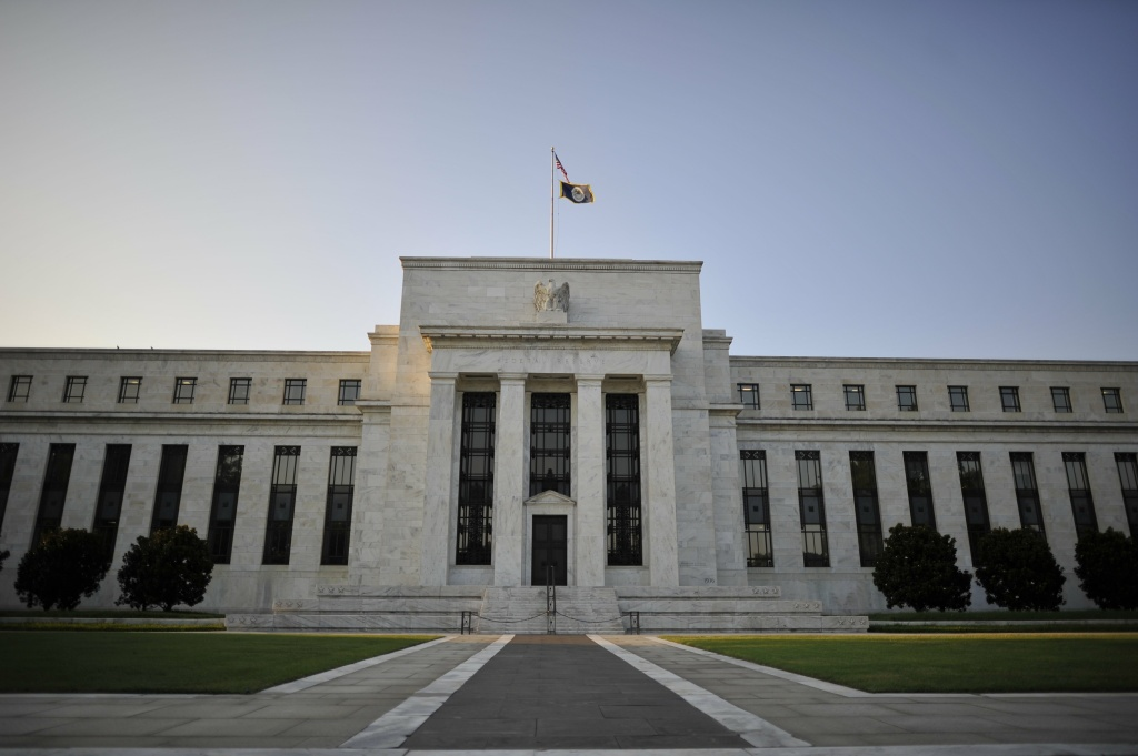 The US Federal Reserve building is seen on August 08, 2011 in Washington DC.