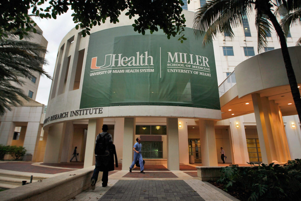 The University of Miami School of Medicine campus is seen on May 8, 2012 in Miami, Florida.