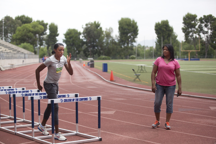 Olympic Training: Lashinda Demus
